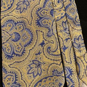 Brooks Brothers Accessories - Blue & Yellow Brooks Brothers Tie